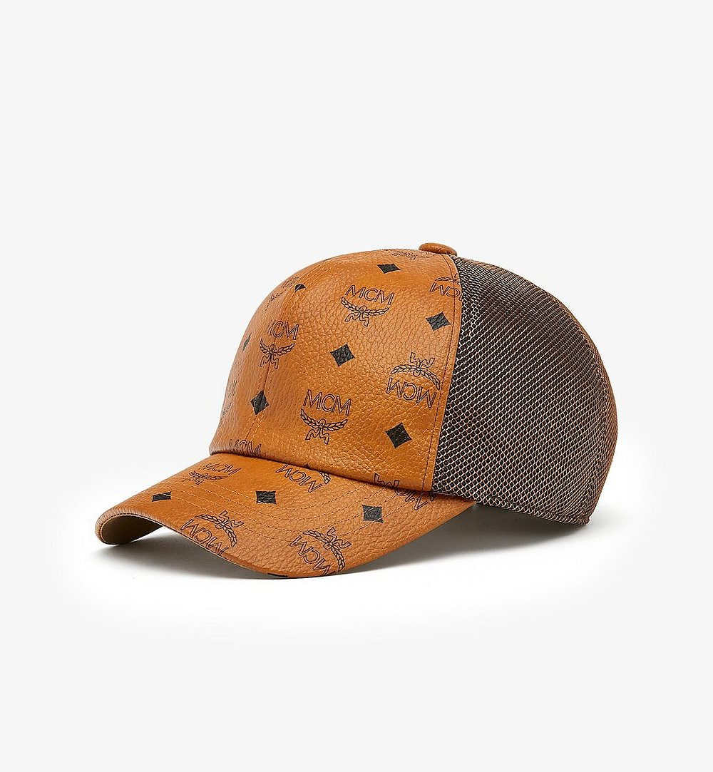 MCM Classic  Mesh Cap in Visetos Cognac MEC9A2K10CO001 Alternate View 1