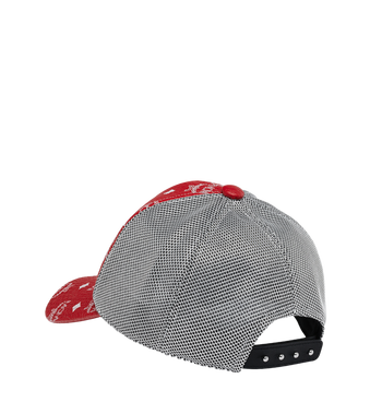 MCM Classic Mesh Cap in White Logo Visetos Alternate View 2