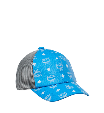 MCM Classic Mesh Cap in White Logo Visetos MEC9S2K01HI001 AlternateView