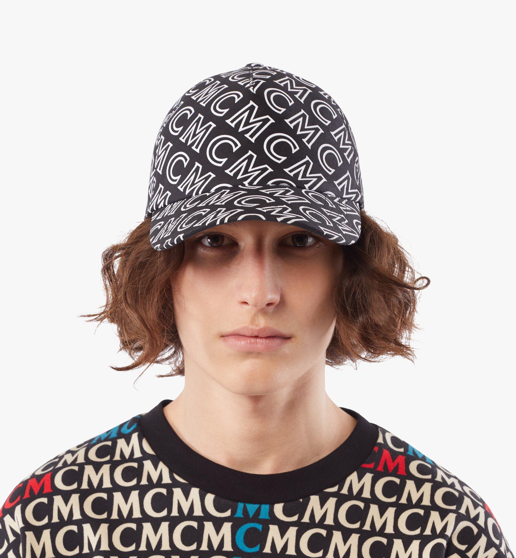 MCM Baumwollkappe mit Monogramm Black MECAAMD01B4001 Noch mehr sehen 3