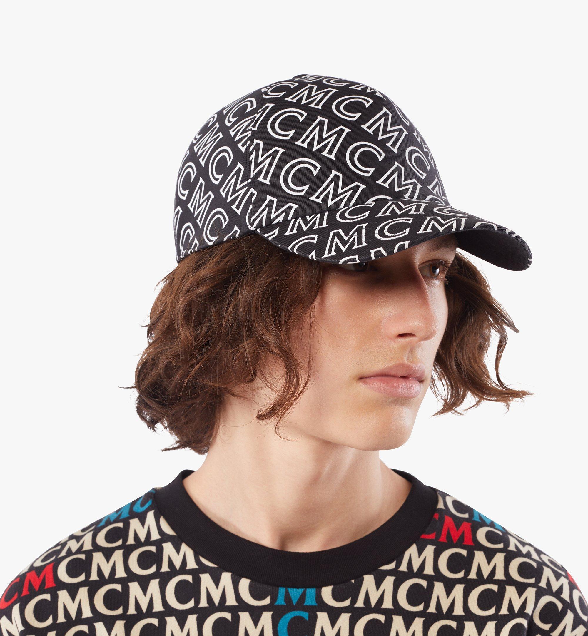 MCM Baumwollkappe mit Monogramm Black MECAAMD01B4001 Noch mehr sehen 4