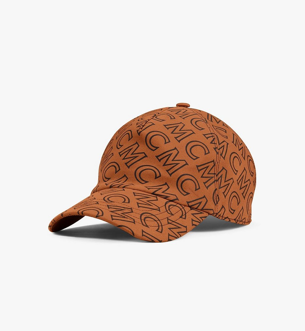 MCM Monogram Cotton Cap Brown MECAAMD01C4001 Alternate View 1
