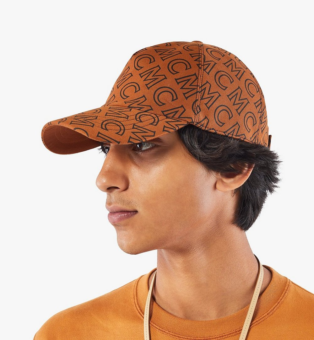 MCM Monogram Cotton Cap Brown MECAAMD01C4001 Alternate View 3