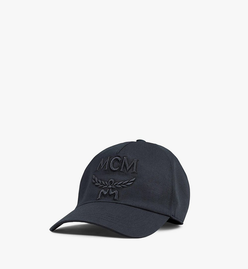 MCM Classic Logo Cap Black MECAAMM01BK001 Alternate View 1