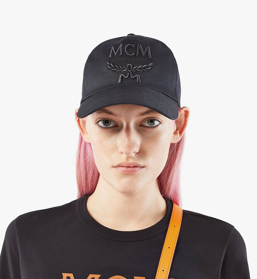 MCM Classic Logo Cap Black MECAAMM01BK001 Alternate View 3