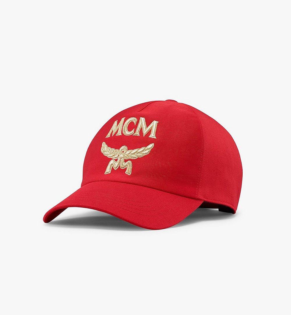 MCM クラシック ロゴ コットン キャップ Red MECAAMM01R4001 ほかの角度から見る 1