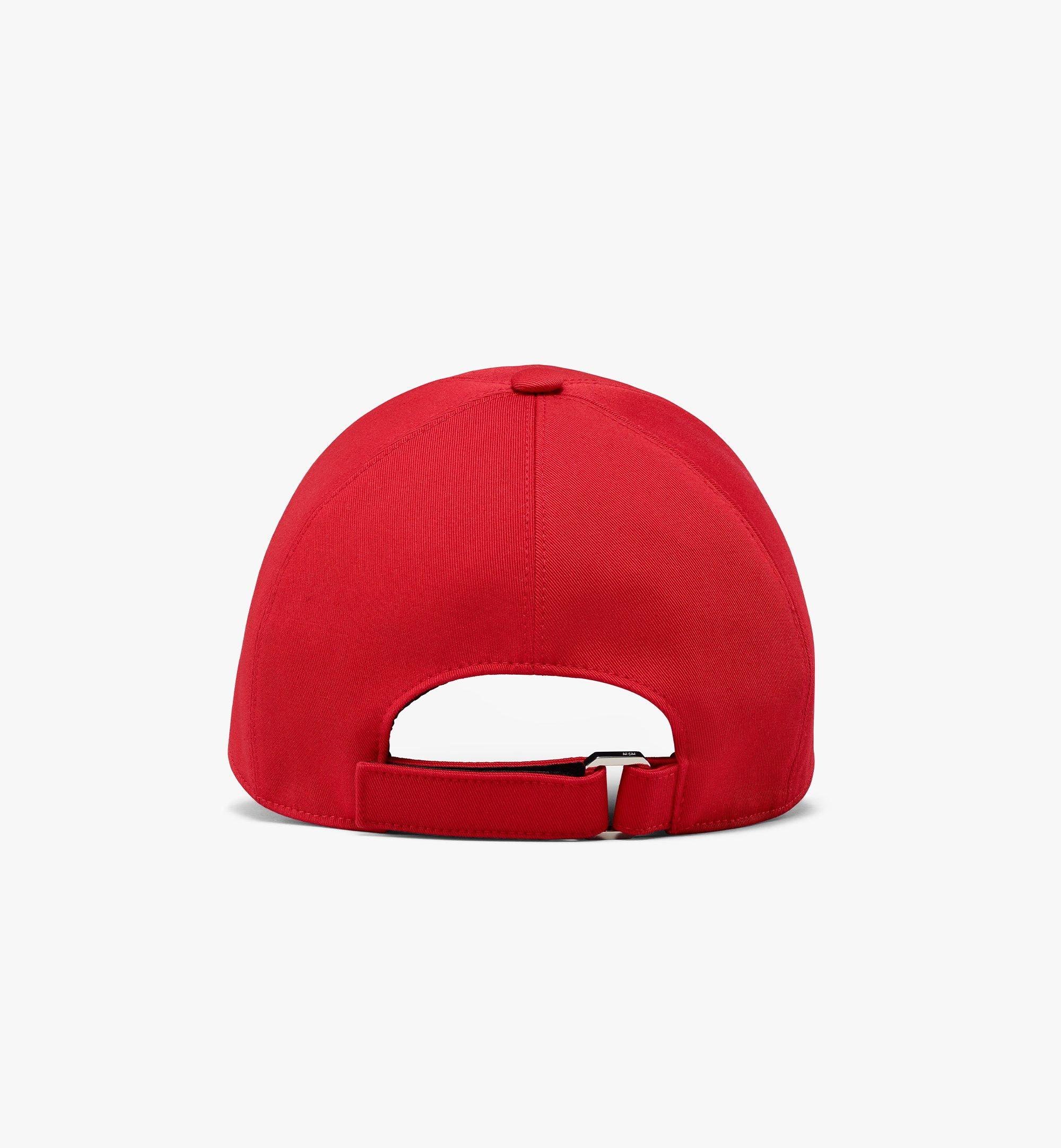 MCM Classic Logo Cotton Cap Red MECAAMM01R4001 Alternate View 1