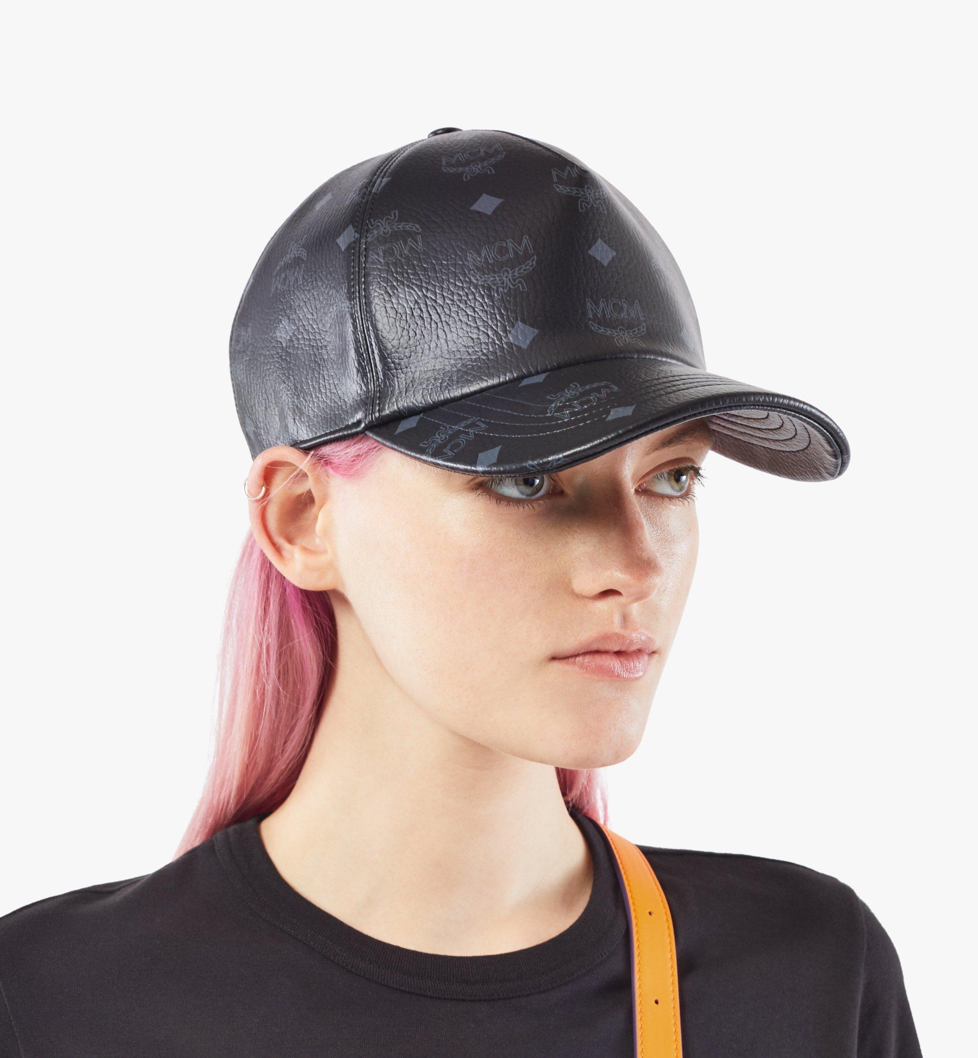 MCM Classic Cap in Visetos Black MECAAMM02BK001 Alternate View 4
