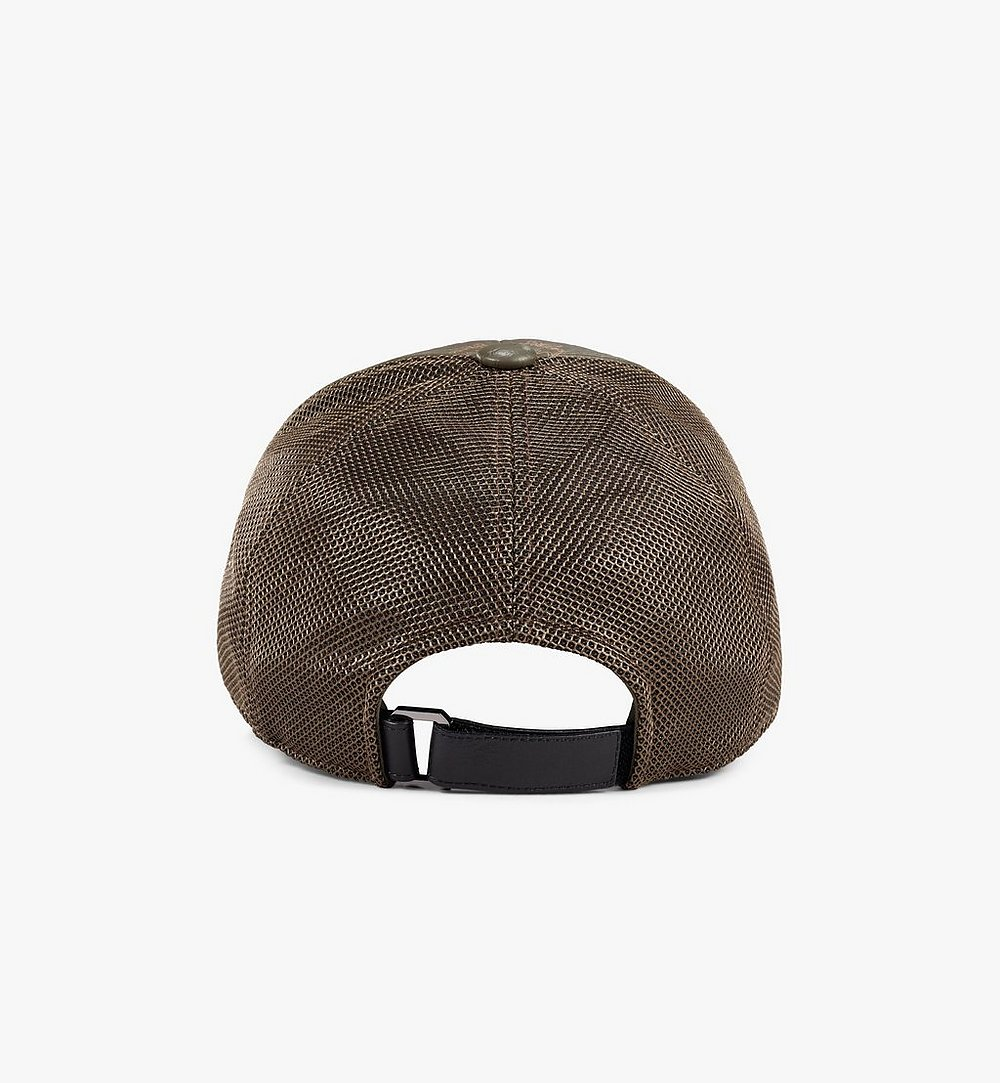 MCM Classic Mesh Cap in Visetos Green MECAAMM04JH001 Alternate View 1