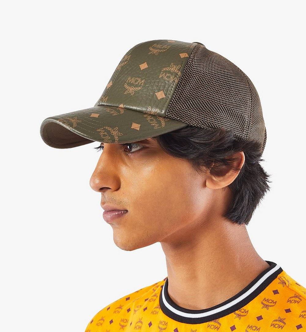 MCM Classic Mesh Cap in Visetos Green MECAAMM04JH001 Alternate View 2