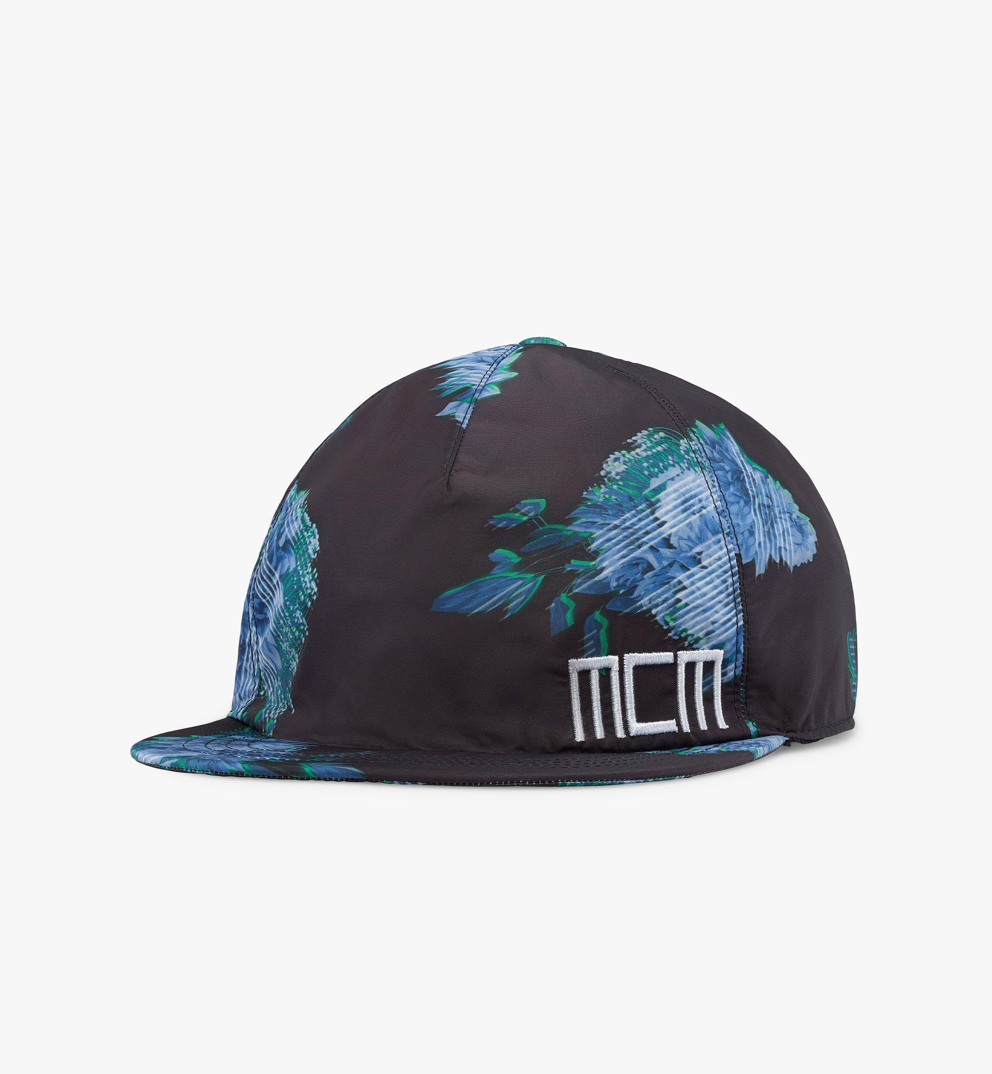 MCM Tech Flower Print Cap Black MECBSSX01B2001 Alternate View 1