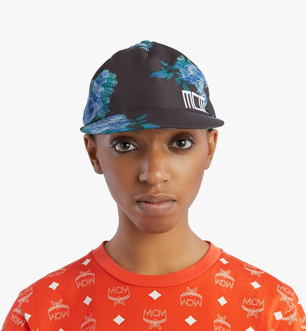 MCM Tech Flower Print Cap Black MECBSSX01B2001 Alternate View 3