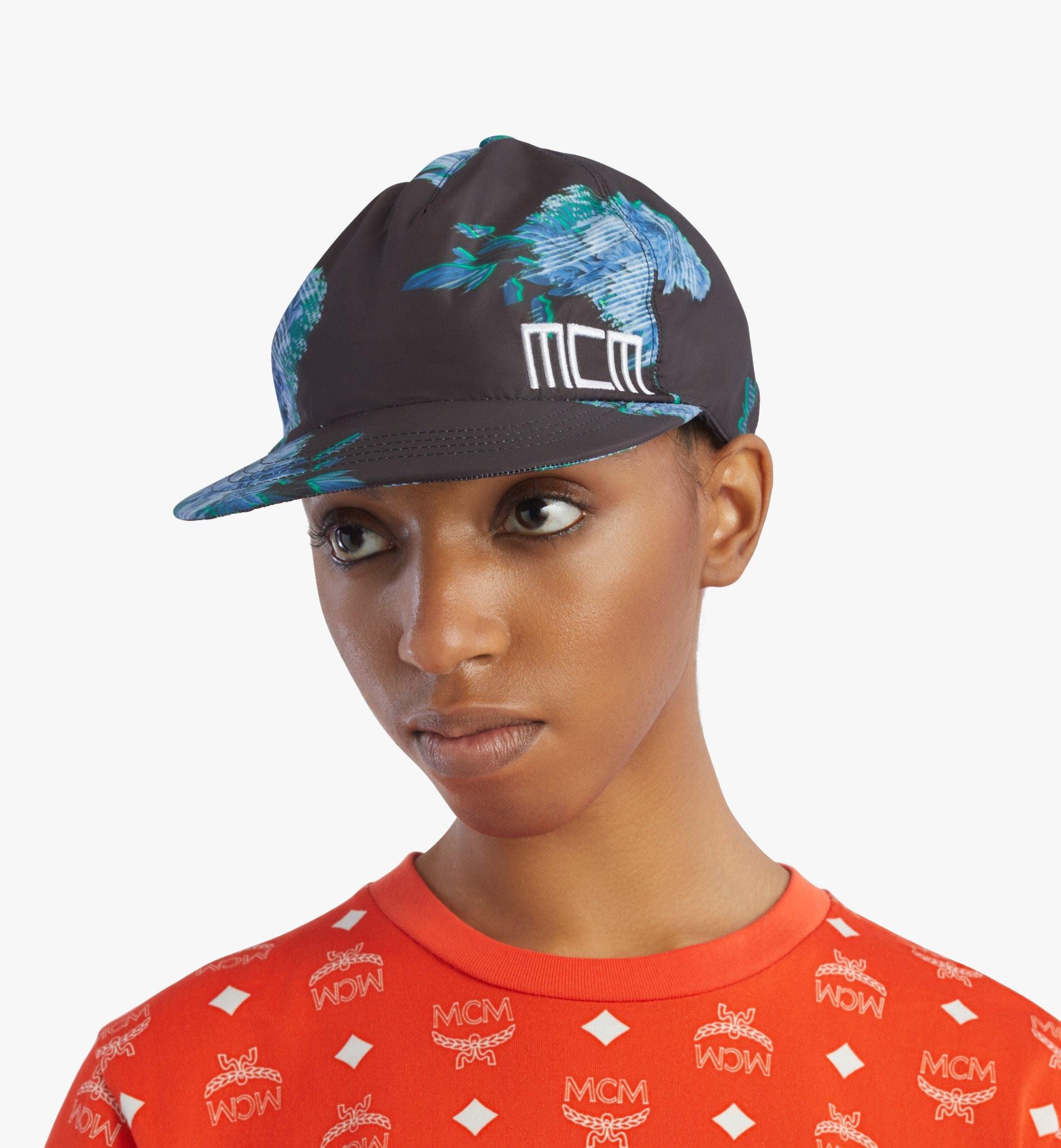 MCM Tech Flower Print Cap Black MECBSSX01B2001 Alternate View 4
