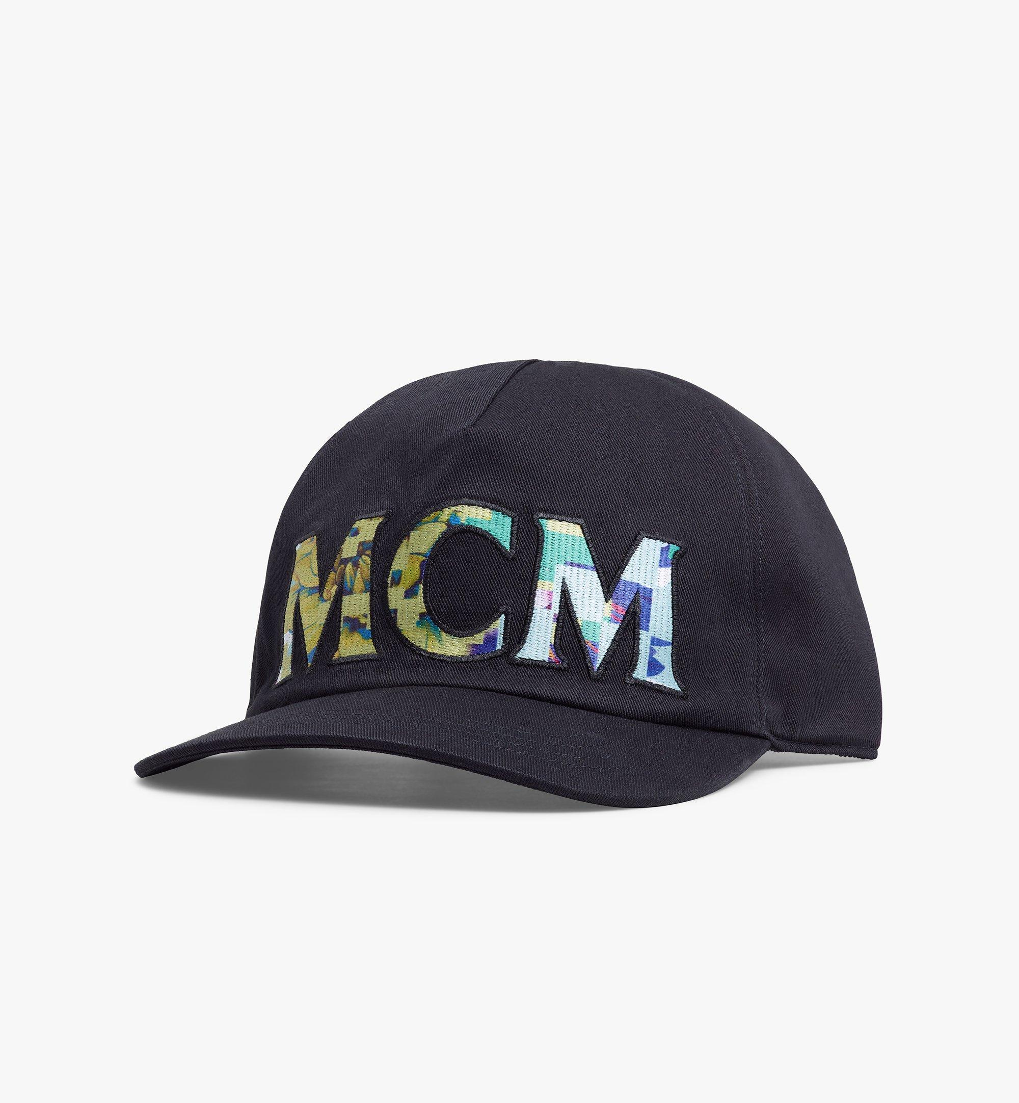 MCM Tech Flower Logo Cotton Cap Black MECBSSX02B2001 Alternate View 1