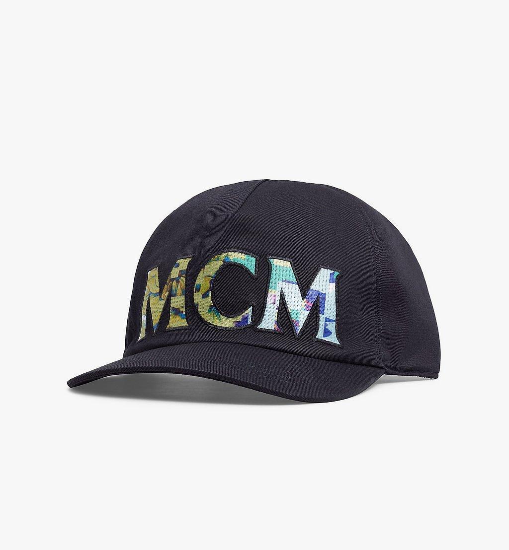 MCM Tech Flower Logo Cotton Cap Black MECBSSX02B2001 Alternate View 1
