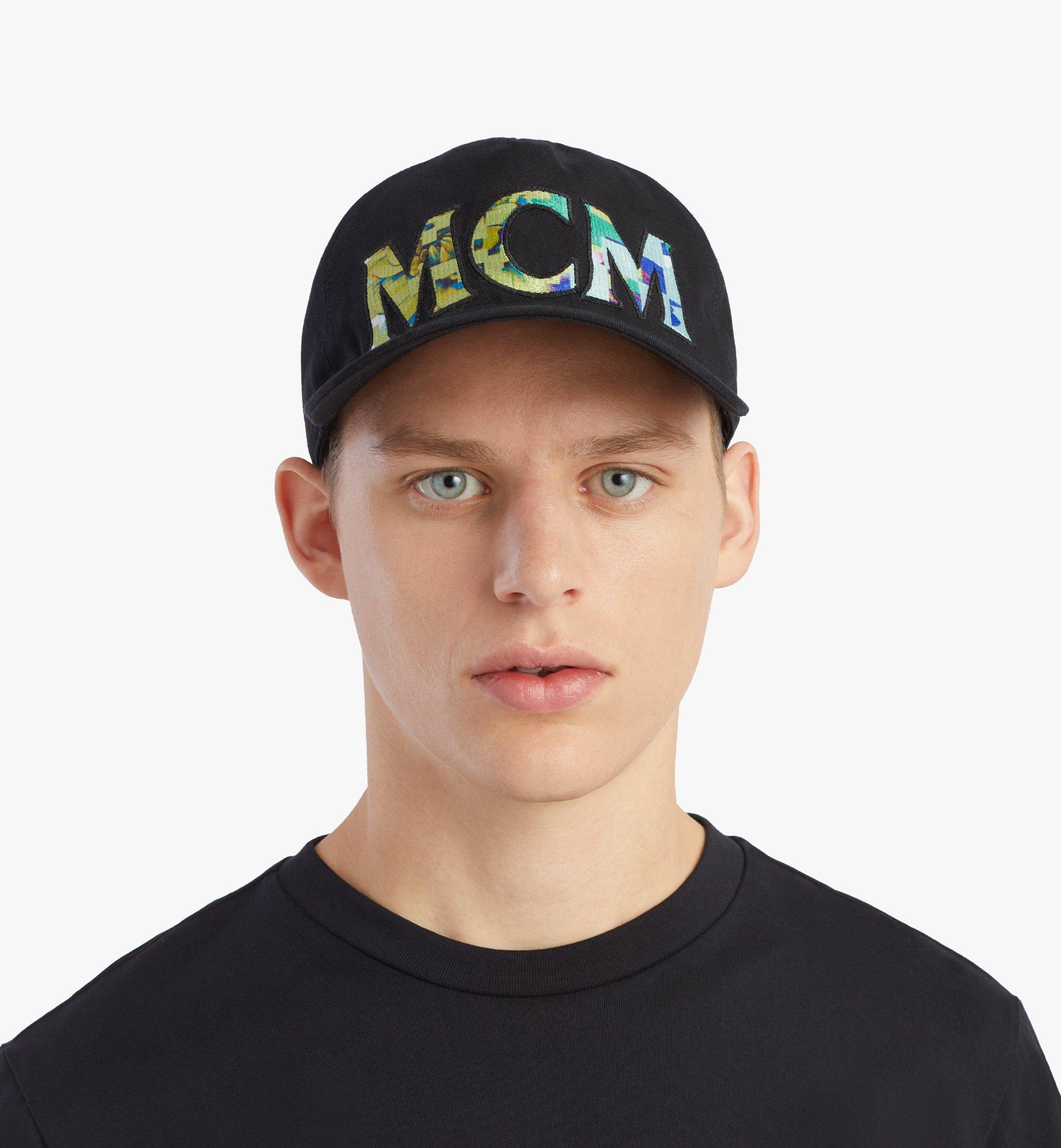 MCM Tech Flower Logo Cotton Cap Black MECBSSX02B2001 Alternate View 2