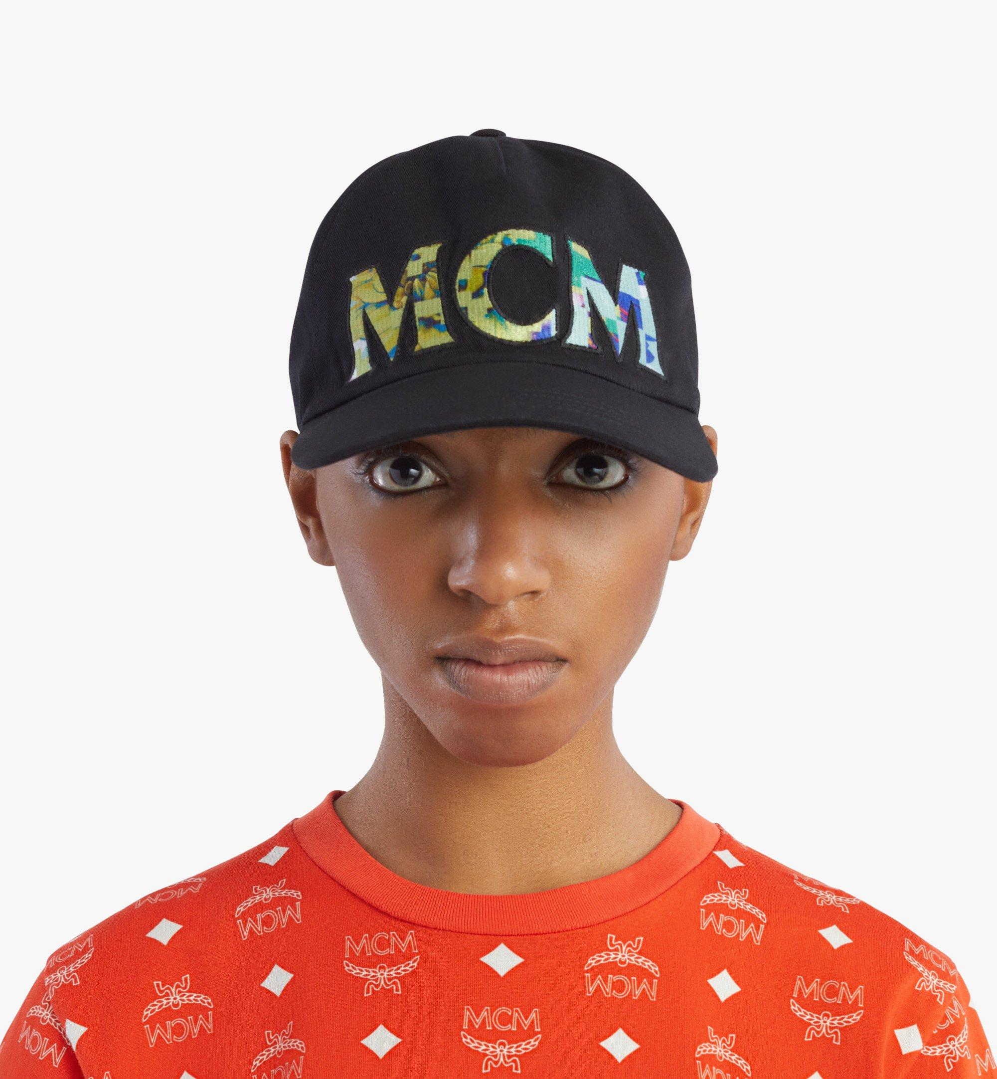 MCM Tech Flower Logo Cotton Cap Black MECBSSX02B2001 Alternate View 3
