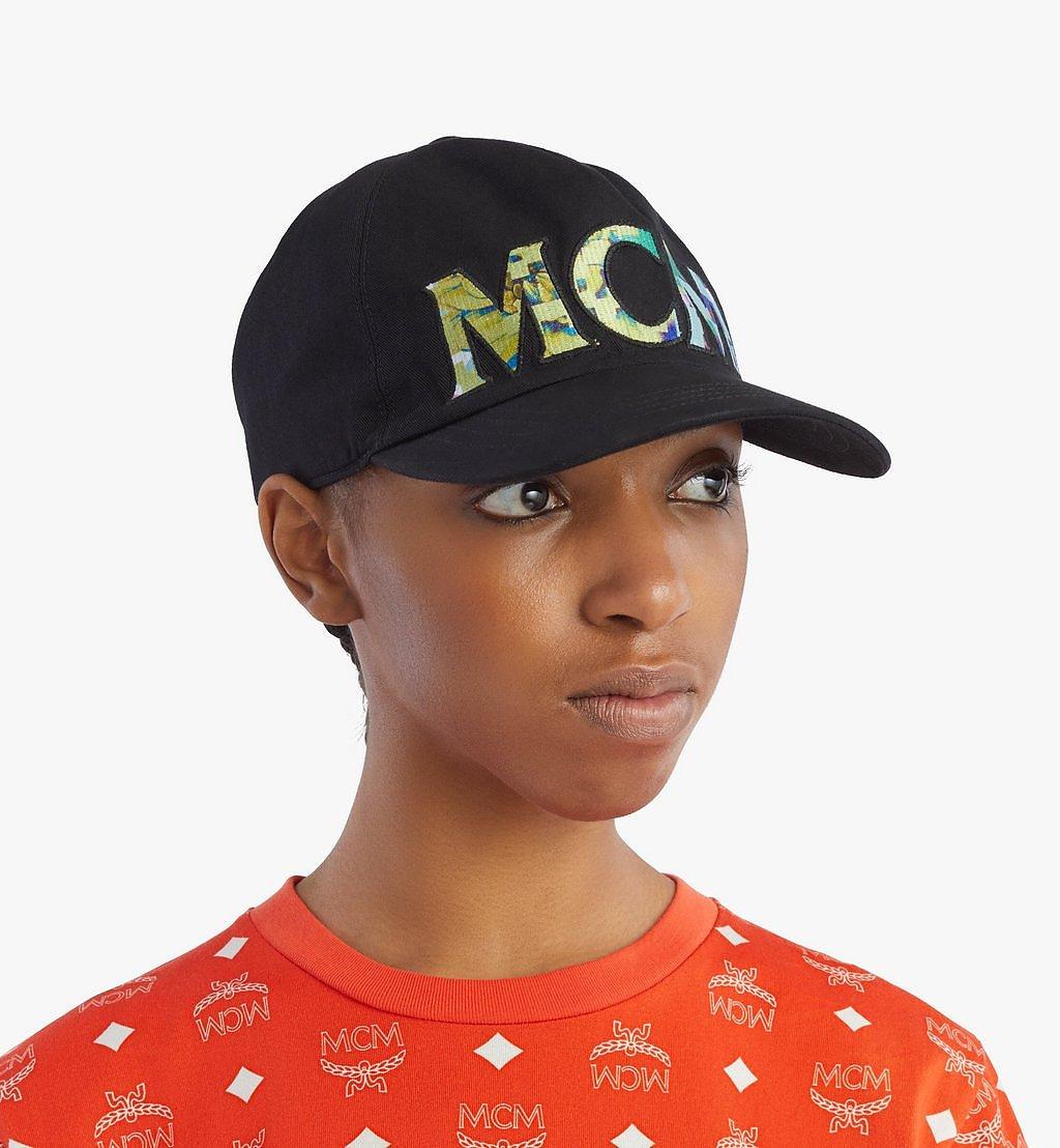 MCM Tech Flower Logo Cotton Cap Black MECBSSX02B2001 Alternate View 4