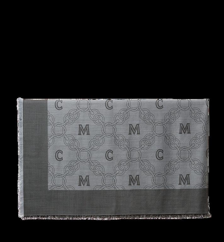 MCM Classic Jacquard Square Scarf in Silk Wool MEF6A2I03EG001 AlternateView2