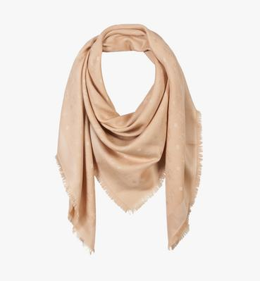Classic Jacquard Square Scarf in Silk Wool