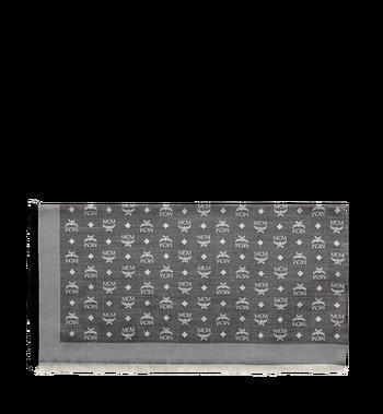 MCM Klassischer quadratischer Jacquard-Schal aus Seide und Wolle MEF7AMM01SS001 AlternateView2
