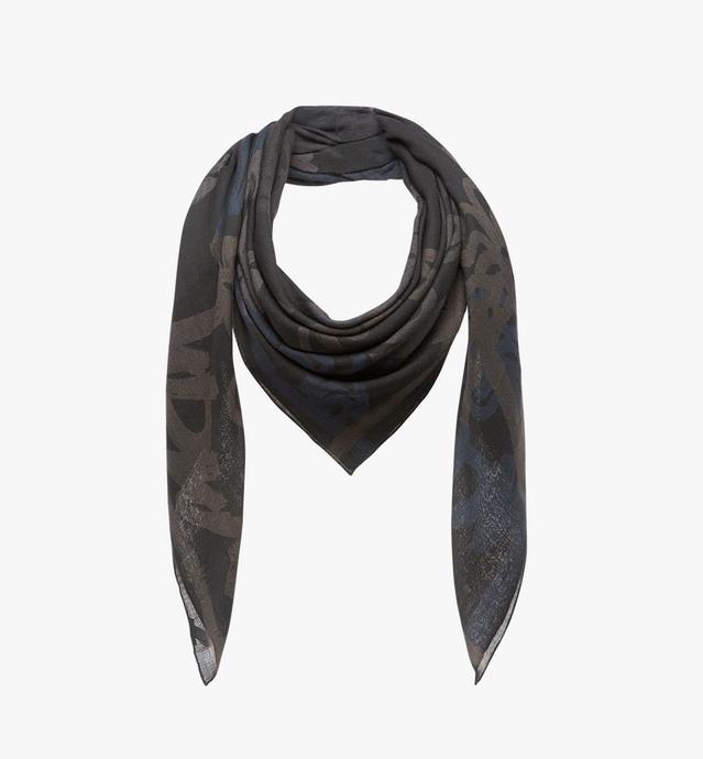 オールオーバー ロゴプリント ウールスカーフ