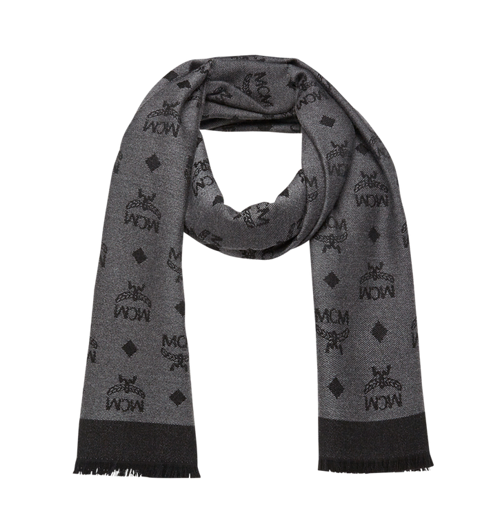 MCM Monogram Jacquard Scarf in Wool Alternate View