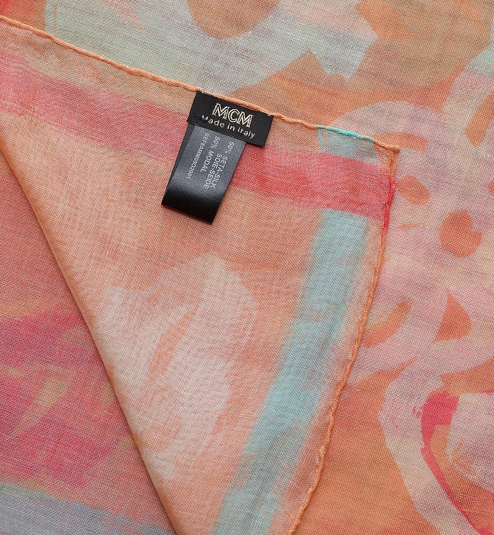 MCM Logo Print Shawl Orange MEF8AMM09O2001 Alternate View 1