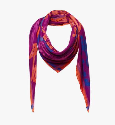 オールオーバー ロゴプリント スカーフ
