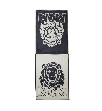 MCM Munich Lion Print Stole MEF8AMM10BK001 AlternateView2