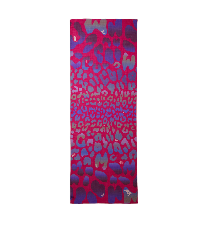 MCM Ocelot Print Wool Stole MEF8AMM12UK001 AlternateView2