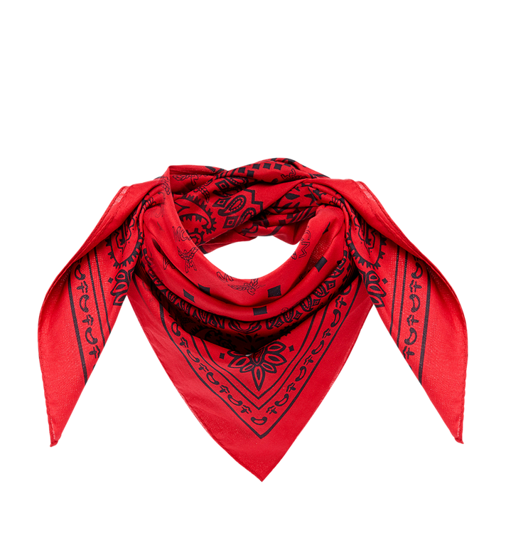 MCM (MCM)RED Bandana Scarf MEF8AMM30RU001 AlternateView
