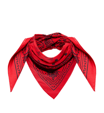 MCM (MCM)RED Bandana Scarf MEF8AMM30RU001 AlternateView1