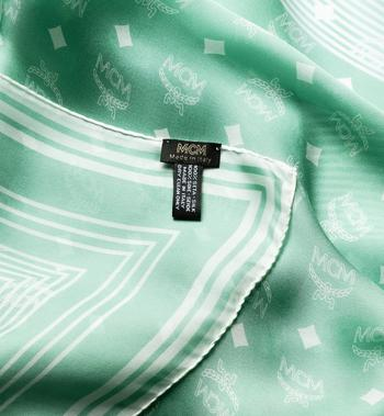 MCM Visetos Stripe Scarf in Modal Silk Green MEF8SMM06G7001 Alternate View 2