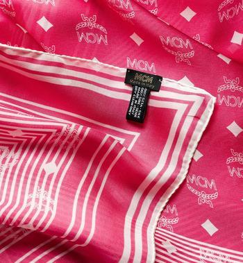 MCM Visetos Stripe Scarf in Modal Silk Pink MEF8SMM06QS001 Alternate View 2