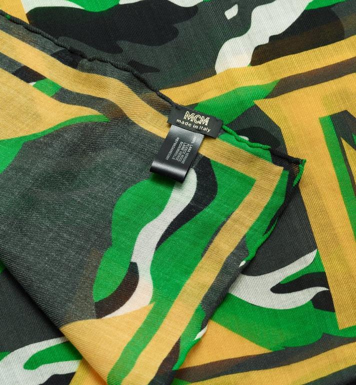 MCM Milano Camo Print Wool Shawl Grey MEF9ADA06EC001 Alternate View 2