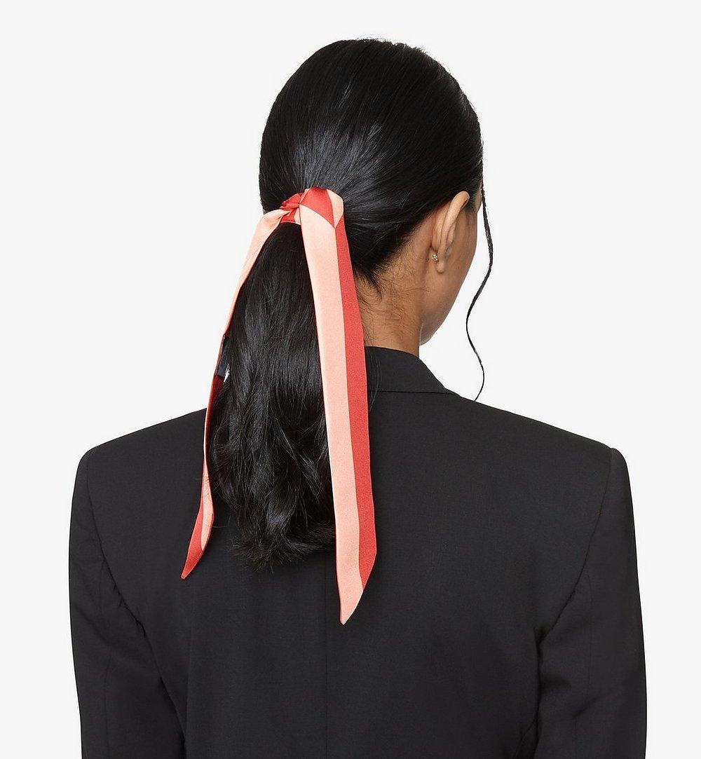 MCM Milano Silk Twilly Scarf Red MEF9ADA17R4001 Alternate View 3