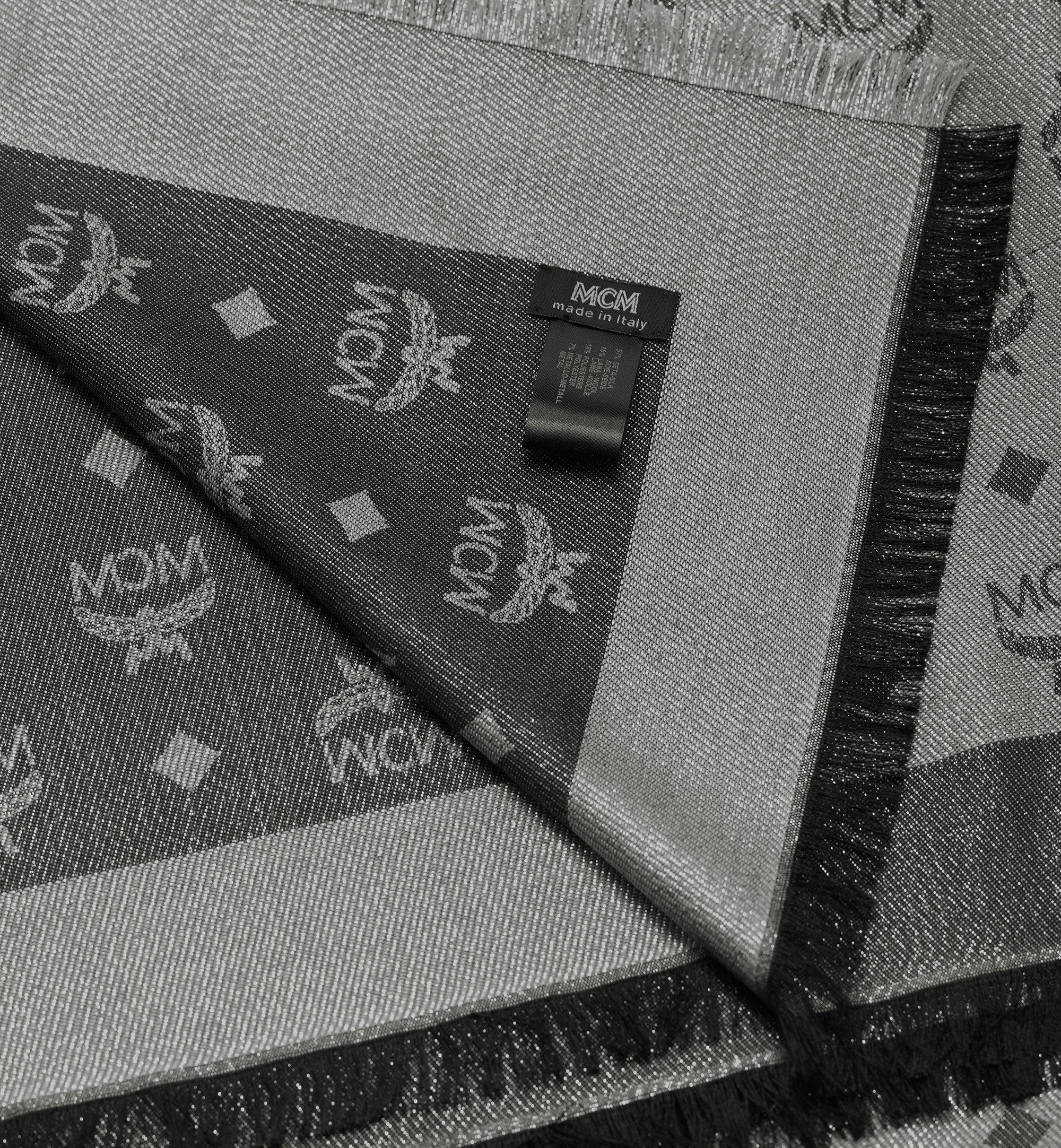 MCM Monogram Lurex Scarf Silver MEF9AMM02SV001 Alternate View 1