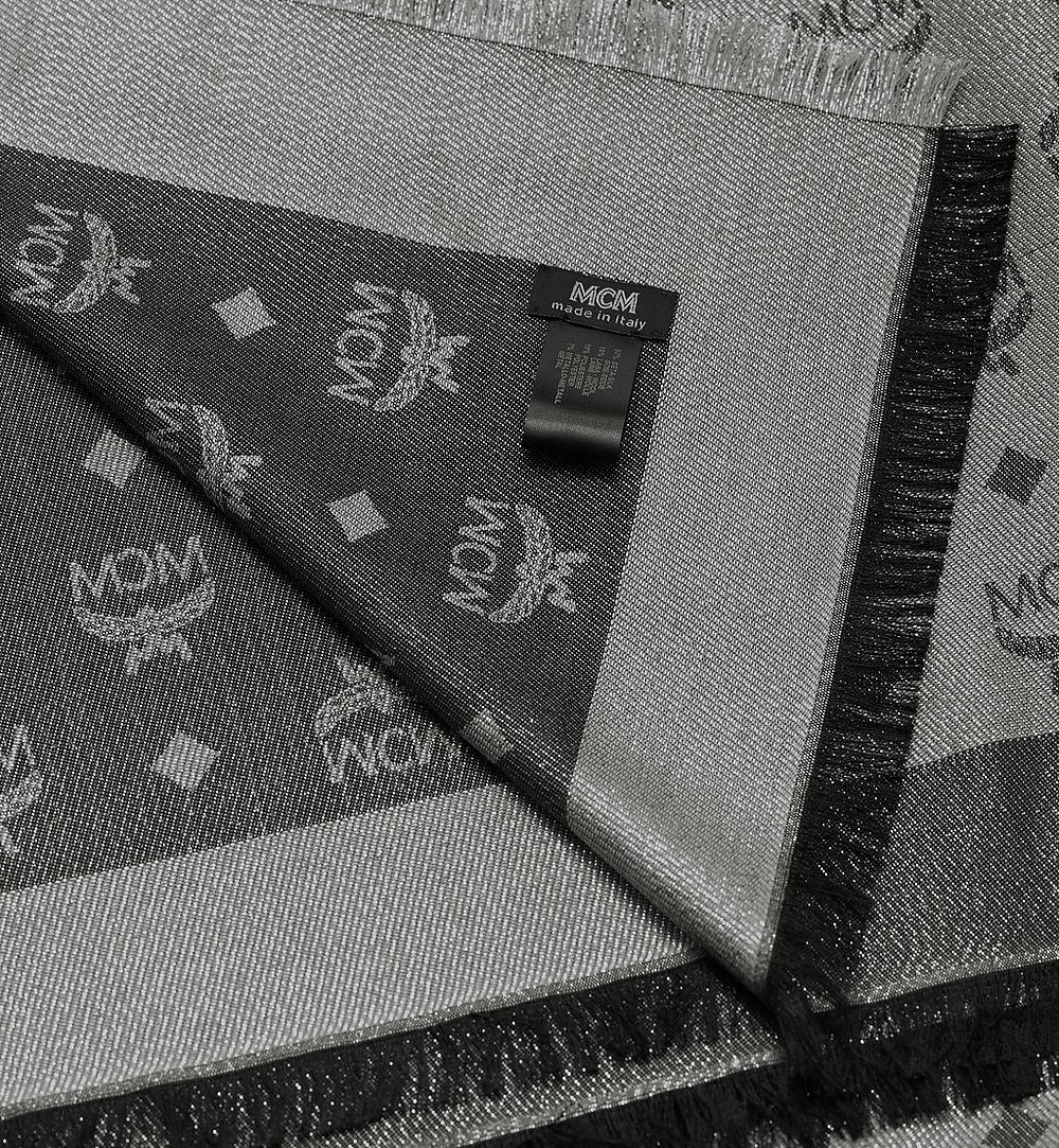 MCM 모노그램 루렉스 스카프 Silver MEF9AMM02SV001 다른 각도 보기 1