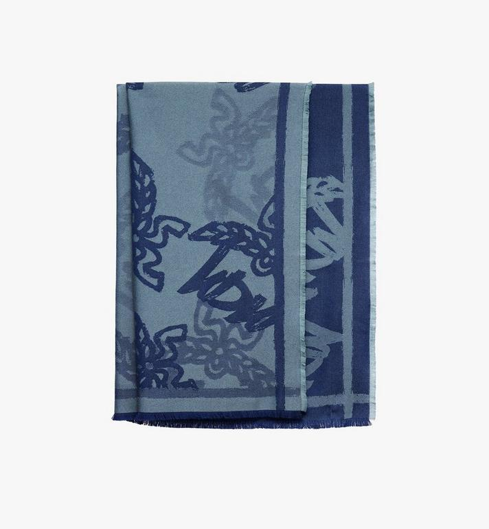 MCM Logo Print Jacquard Scarf Alternate View 1
