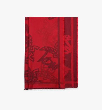MCM Logo Print Jacquard Scarf Alternate View