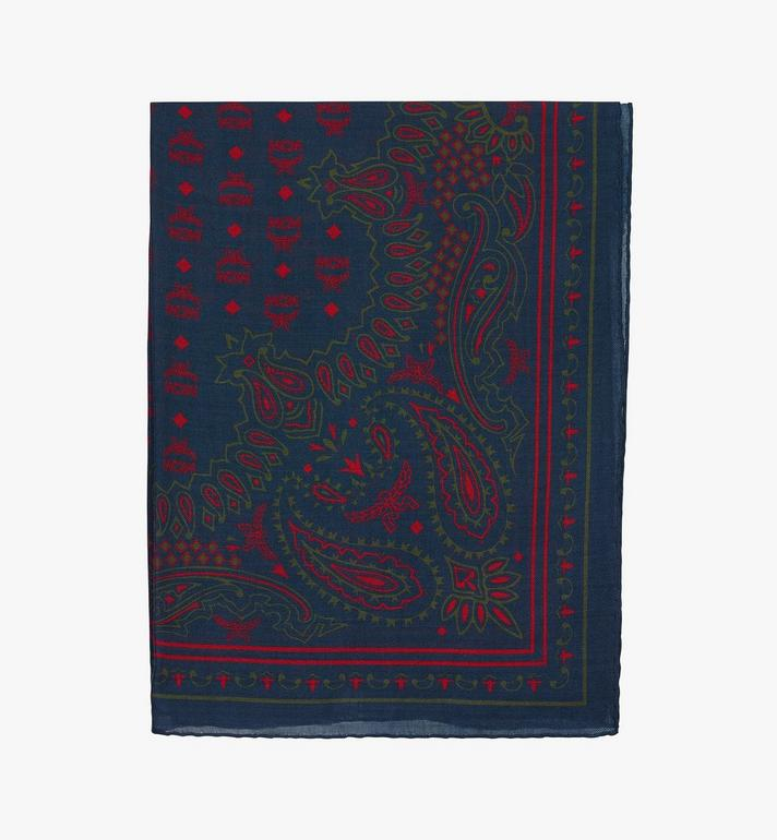 MCM Paisley Print Wool Scarf Alternate View