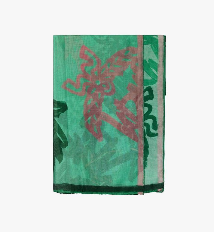 MCM Allover Logo Print Scarf Alternate View 1