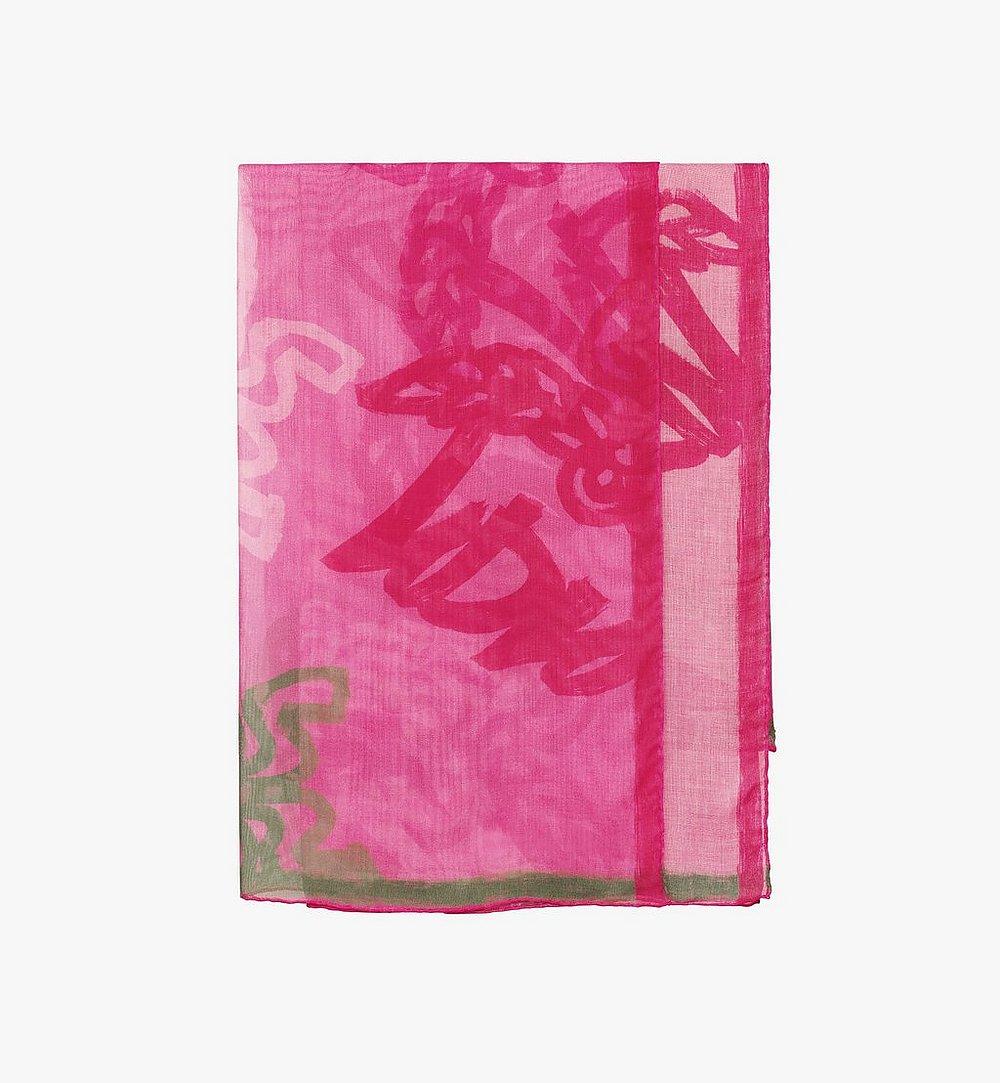 MCM Allover Logo Print Scarf Pink MEF9AMM09QP001 Alternate View 1
