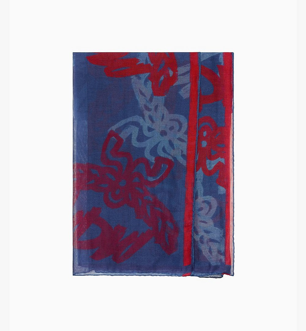 MCM Allover Logo Print Scarf Blue MEF9AMM09VS001 Alternate View 1