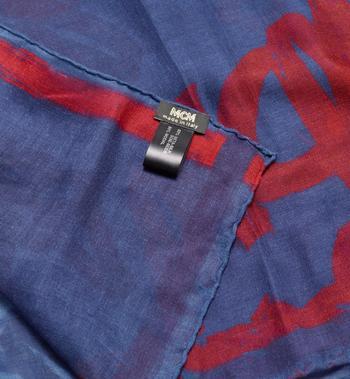 MCM ロゴプリント ジャカード スカーフ Blue MEF9AMM09VS001 Alternate View 2