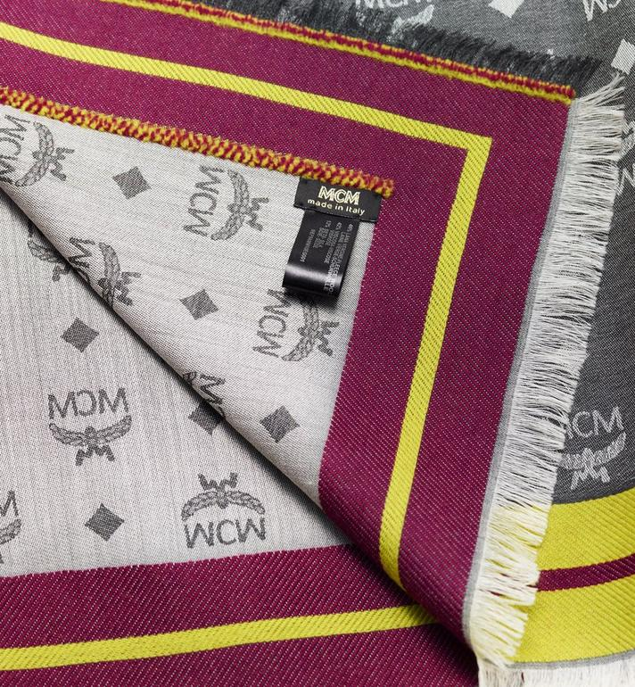 MCM Monogram Jacquard Border Scarf Alternate View 2