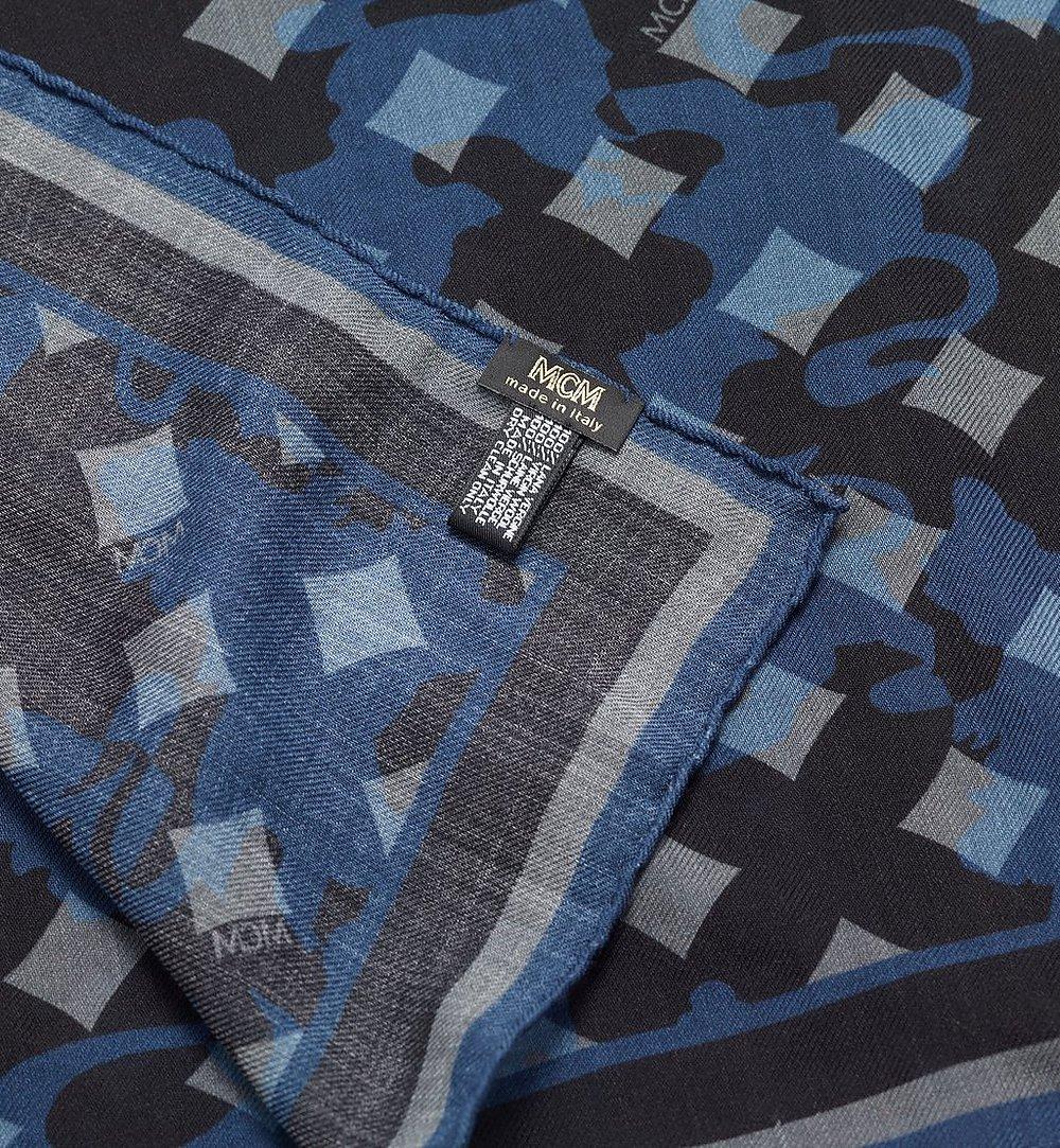 MCM Camo Print Stole Blue MEF9AMM33VG001 Alternate View 1