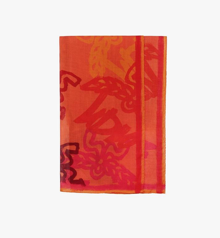 MCM Logo Print Wool Scarf Alternate View
