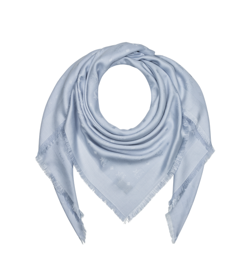 Jacquard-Schal aus Seide und Wolle mit Monogramm